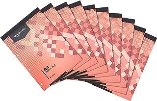 Amazon Basics - Bloc de recambio, encuadernación superior, 160 hojas, tamaño A4, 70 gsm, 10 unidades