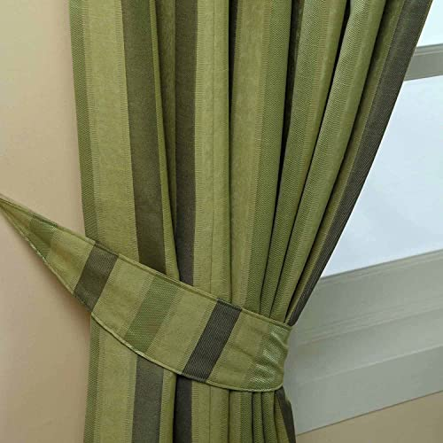 Green Striped Curtains: Amazon.co.uk