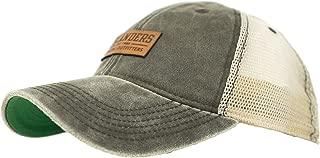 Islanders Leather Applique Snapback Vintage Feel Mesh-Back Trucker Hat