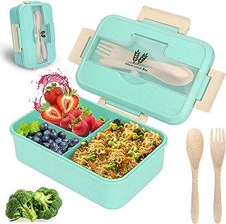 Sinwind Lunchbox Kinder, Brotdose mit Fächern, Bento Box, b