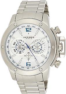 ساعة يد كونكرر بعرض انالوج وسوار من الستانلس ستيل للرجال من اكريبوس XXIV، حركة كوارتز