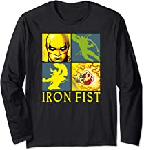 Marvel Iron Fist The Immortal Weapon Squared Long Sleeve Tee