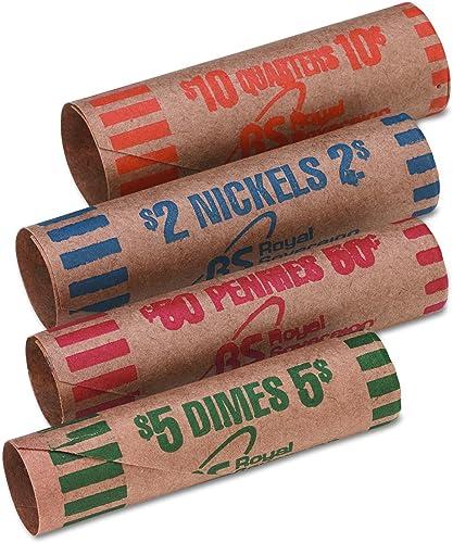 Mejor precio Royal Sovereign Coin Wrappers, 54 ea Quarter Quarter Quarter Dime Nickel Penny, AST, Sold as 1 Box  100% autentico