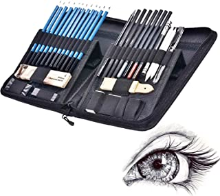 40pcs Sketch Pencil Kit, Professional Sketch Pencils Set, Sketching Drawing Kit Including Graphite Charcoal Willow Sticks ...