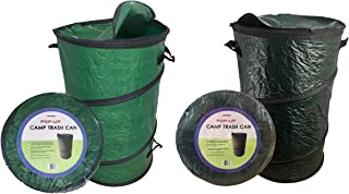 Oswego Pop-Up Collapsible Travel Camping Trash and Recycle Containers