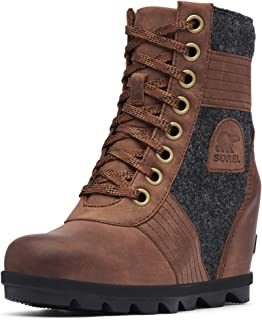 Women's Lexie Wedge Waterproof Lace-Up Ankle Boot, Tobacco, 9 M US
