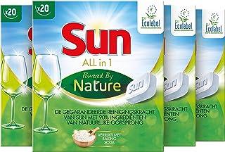 SUN All-in 1 Vaatwastabletten Powered by Nature - 80 tabletten