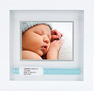 Pearhead Hospital ID Bracelet and Photo Frame, 3 x 4, Gifts for Expecting Parents, Baby Shower Gift, White