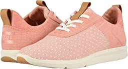 Coral Pink Printed Dots/Heritage Canvas