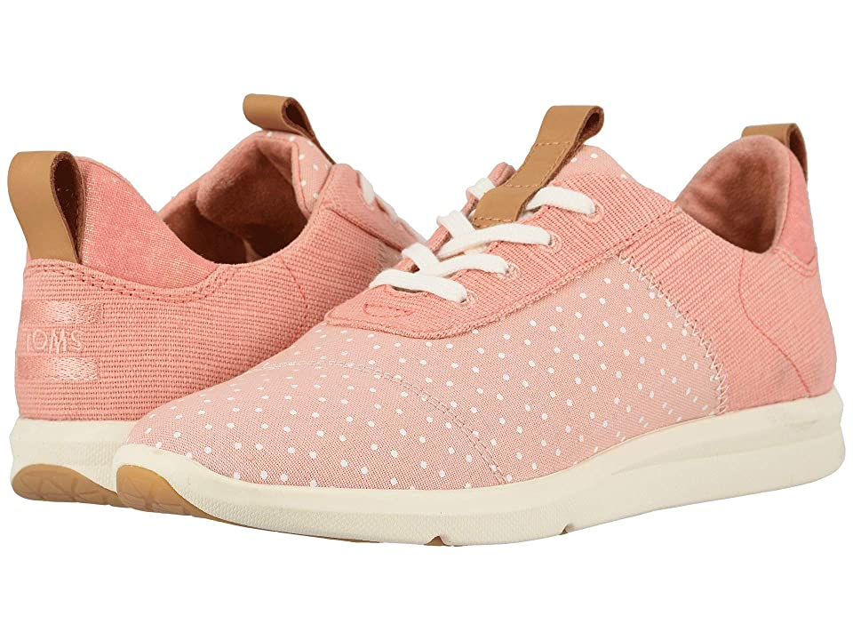 TOMS Cabrillo (Coral Pink Printed Dots/Heritage Canvas) Women