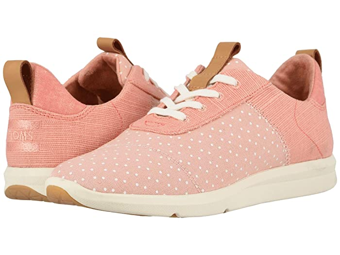 TOMS  Cabrillo (Coral Pink Printed Dots/Heritage Canvas) Womens Lace up casual Shoes