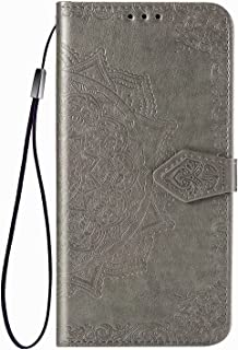 YukeTop Case for vivo V20 2021, PU Leather Flip Folio Wallet Cover, With Card Slots, Case Cover for vivo V20 2021.(Grey)