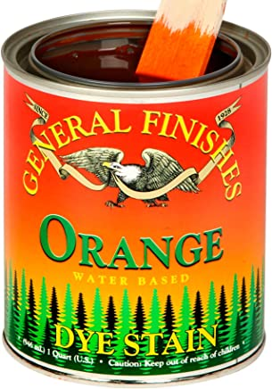 General Finishes Water Based Dye Stain Orange Quart