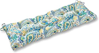South Pine Porch AM5812-BALTIC 51-inch Outdoor Bench Cushion, Baltic Paisley