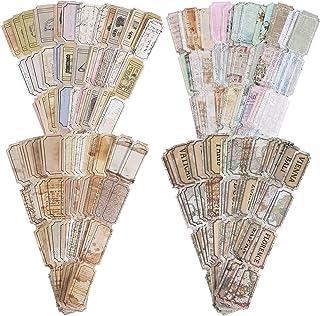 120 Autocollants de Scrapbooking Vintage Étiquette de Fleur Carte Rétro Autocollants de Scrapbooking Décoratifs Autocollan...