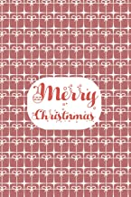 Merry Christmas Planner Notebook: Holiday Season Journal, Softcover, 100 Lined Pages .