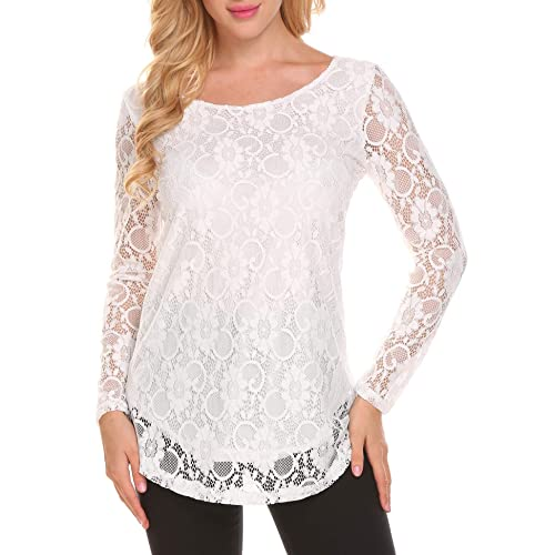 ed623df355 Women's Lace Tops: Amazon.com