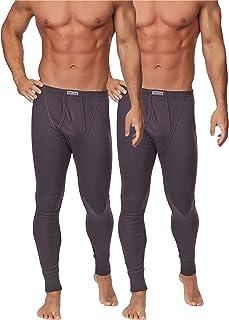 c1a562e540df3 Timone Lot de 2 Caleçons Longs Thermiques Pantalons sous-vêtements Homme  TISS001