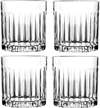 Whiskey Glass Set of 4, 8-ounce, Old Fashioned Rocks Glasses Tumblers, Glassware for Cocktail Scotch, Bourbon, Gin, Voldka...