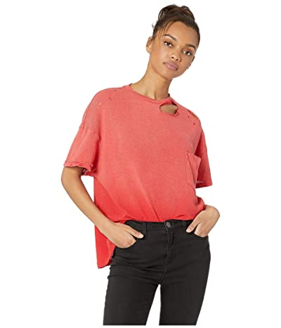 Free People Lucky Tee (Red) Women