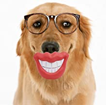 Dog Pacifier Chew Toys Dog Interactive Toys, Bite Resistant Natural Rubber Pets Oral Cleaning Teeth Red Lips Tooth Dog Pacifier Chew Toys Funny