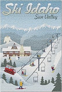 Sun Valley, Idaho - Retro Ski Resort 81008 (Premium 500 Piece Jigsaw Puzzle for Adults, 13x19, Made in USA!)