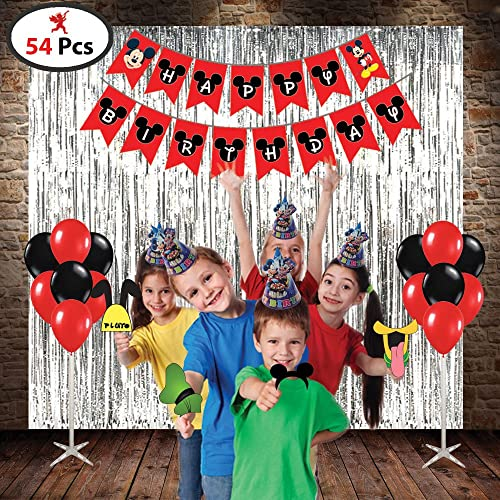 Generic Mickey Mouse Combo Of 1 Happy Birthday Banner 10 Pcs Cap 3