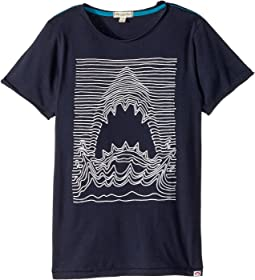 Appaman Kids - Shark Line Draw Extra Soft Short Sleeve Tee (Toddler/Little Kids/Big Kids)