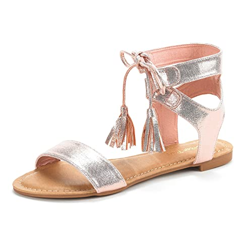 a25e9b74929 DREAM PAIRS Women s Ankle Strap Gladiator Flat Sandals