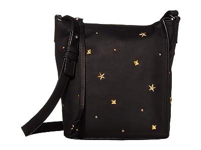 AllSaints Mazzy Zip Crossbody (Black) Handbags