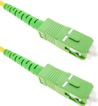BeMatik - Cable de Fibra óptica SC/APC a SC/APC monomodo simplex 9/125 de 10 m