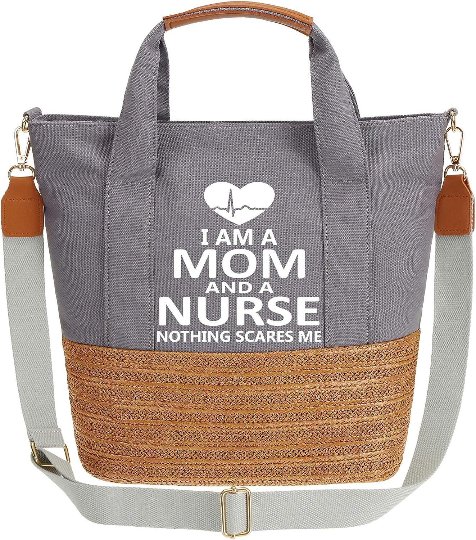 IN.RHAN Women's Handbag I'm A Mom Topics on TV To Work Handle Nurse And Top free