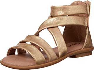 Clarks Girls' Holly II Fashion Sandals, Gold Distress