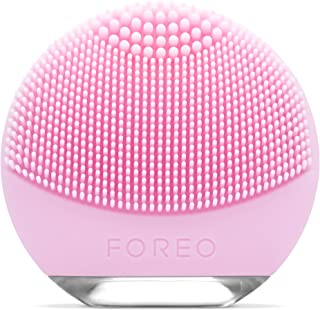 FOREO LUNA go Portable and Personalized Facial Cleansing Brush with Anti-Aging for Normal Skin, USB Rechargeable and Waterproof