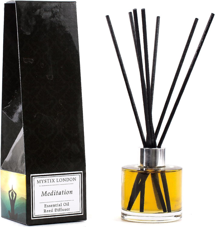 Mail order cheap Mystix London Meditation-Essential Oil Reed 10 Spasm price Diffuser-100ml