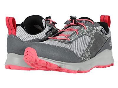 The North Face Kids Hedgehog Hiker II Waterproof (Little Kid/Big Kid) (Zinc Grey/Calypso Coral) Girls Shoes