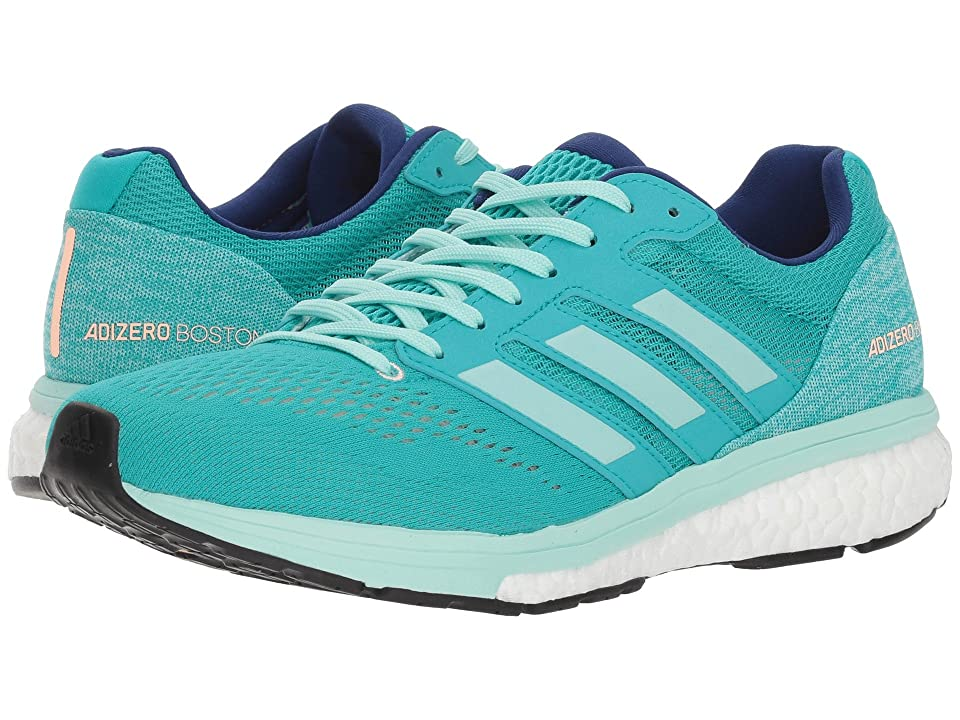 Image of adidas Running adiZero Boston 7 (Hi-Res Aqua/Clear Mint/Mystery Ink) Women's Shoes