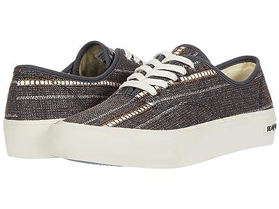 SeaVees Legend Sneaker Raffia Stripe (Brown) Men