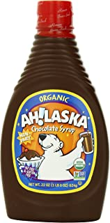 AH!LASKA Organic Chocolate Syrup, 22 Ounce (Pack of 4)
