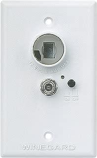 Winegard White RV-7042 Wall Plate/Power Supply