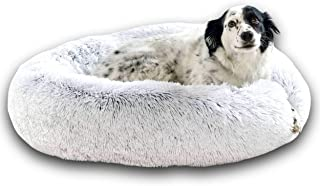 Lit Coussin Chien Chat Apaisant 80cm DODO Donut™ Confort+ Rond Doux Cocoon Puppy Love Panière Anti Stress Panier Petit Moy...