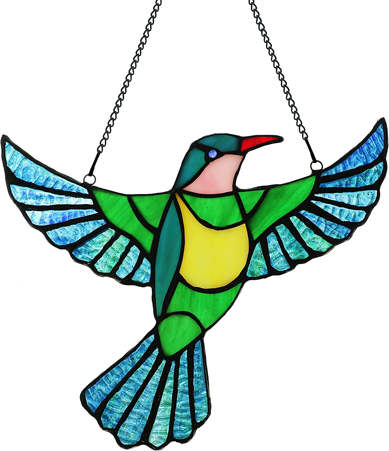 Alivagar Stained Glass Bird 2021new shipping free shipping OFFer Window Flying Bi SunCatcher Hangings