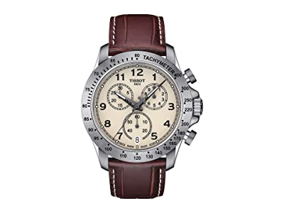 Tissot V8 Quartz Chronograph T1064171626200 (Silver/Brown) Watches