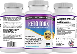 Keto Plus Diet Pills - Ketogenic Diet Supplement - Powerful Carb Blocker & Fat Burner - Appetite Suppressant - 60 Capsules