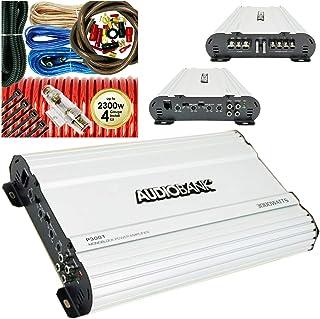 Audiobank P3001 Monoblock 3000 Watts Peak Power Class AB Car Audio Amplifier with Remote Subwoofer Control +Complete 4 Gau... photo