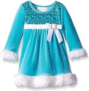 Bonnie Baby Baby Girls Santa Dress, Aqua, 24 Months