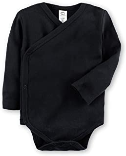 Colored Organics Baby Organic Cotton Kimono Bodysuit - Long Sleeve Infant Side Snap Onesie