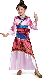 Mulan Deluxe Costume, Pink, Medium (3T-4T)