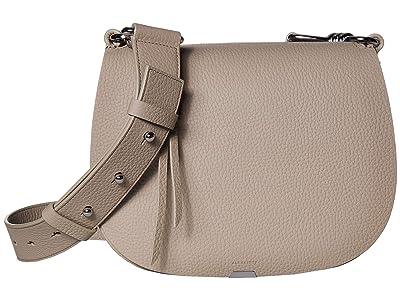 AllSaints Captain Leather Round Crossbody (Dune) Handbags