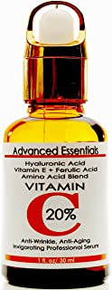Vitamin C Serum for Face with Feluric, Hyaluronic Acid and Vitamin E. Anti Wrinkle, Anti-Aging Serum and Dark Spot Corrector
